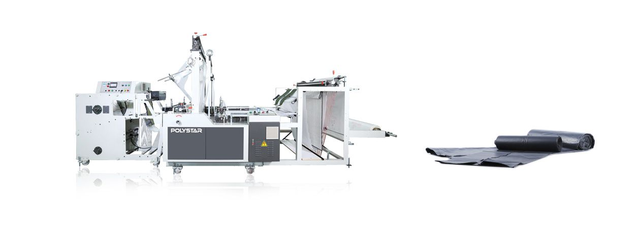Bag-on-roll bag making machine