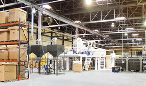 Stretch film recycling machine mounted in the US