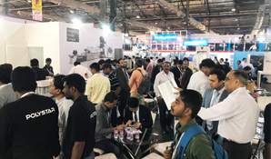 Polystar came up with two recycling lines demo at Plastivision India 2017