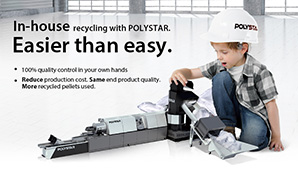 In-house recycling with POLYSTAR. Easier than easy