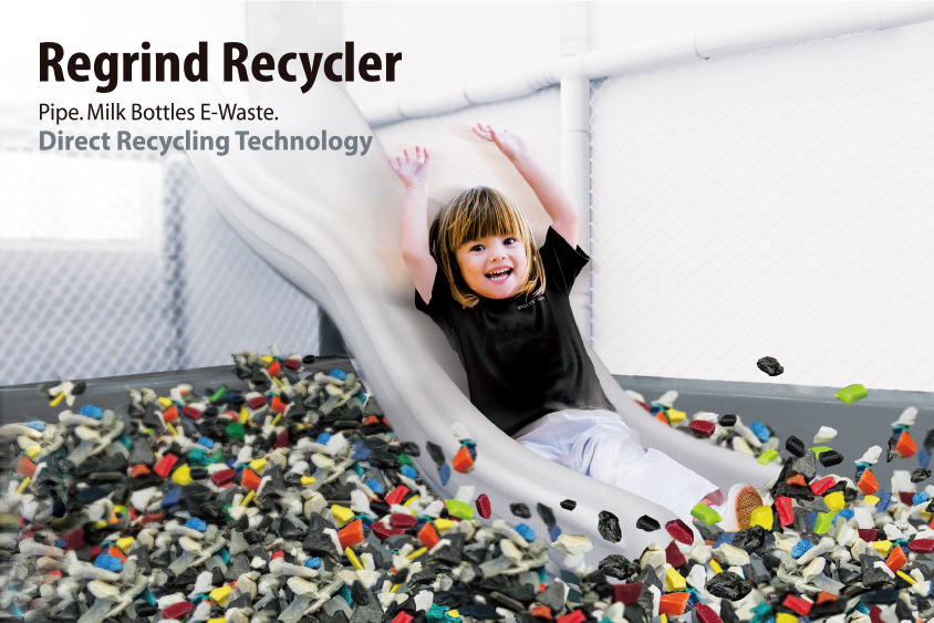 Pipe. Milk Bottles. E-Waste. Direct Recycling Technology